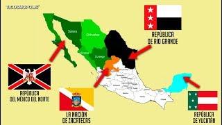 LOS ESTADOS que INTENTARON SEPARARSE de MÉXICO para CREAR su PROPIO PAÍS y TÚ NO LO SABÍAS