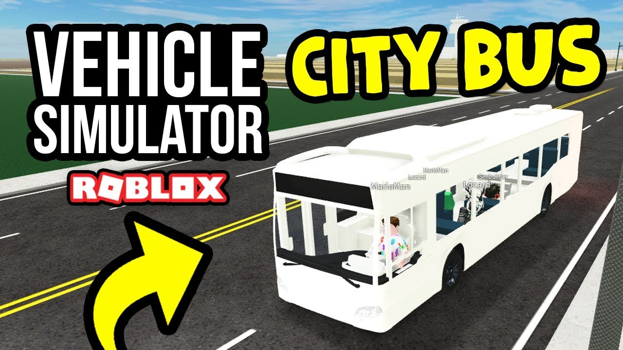 City Bus Job In Roblox Vehicle Simulator Youtube