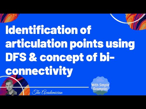 Identification of articulation points using DFS and concept of bi-connectivity
