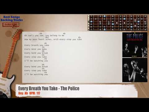 Every Breath You Take The Police Guitar Backing Track With Chords