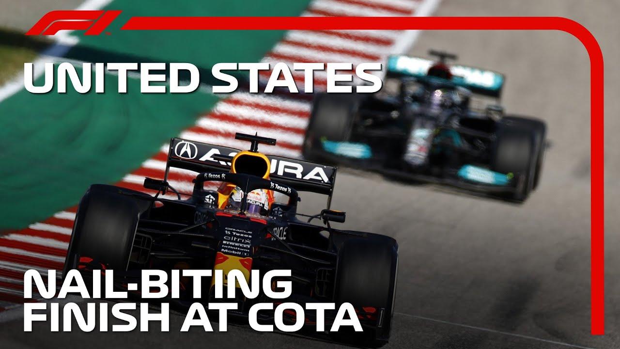 Download Verstappen And Hamilton's Tense Final Lap | 2021 United States Grand Prix