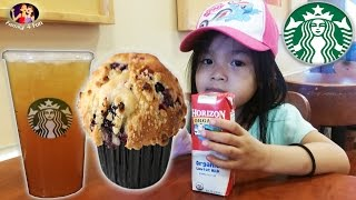 Starbucks Mango Black Tea Lemonade and Blueberry Cupcake Food Review | Family 4 Fun at Target