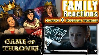 Game of Thrones | Season 8 | Official Trailer | FAMILY Reactions