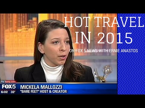 Top Travel Destinations with Mickela Mallozzi & Ernie Anastos on Fox 5 News (WNYW)
