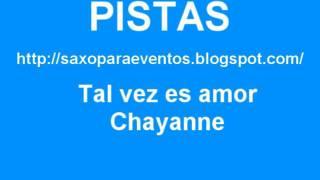 Partitura y pista - Tal vez es amor - Chayanne