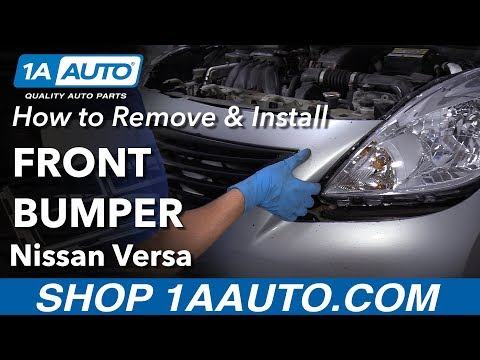 How to Remove Front Bumper 12-19 Nissan Versa - YouTube