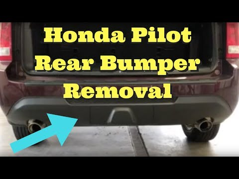 2009 2010 2011 2012 2013 2014 2015 Honda Pilot Rear Bumper Removal Replace Install How to Remove