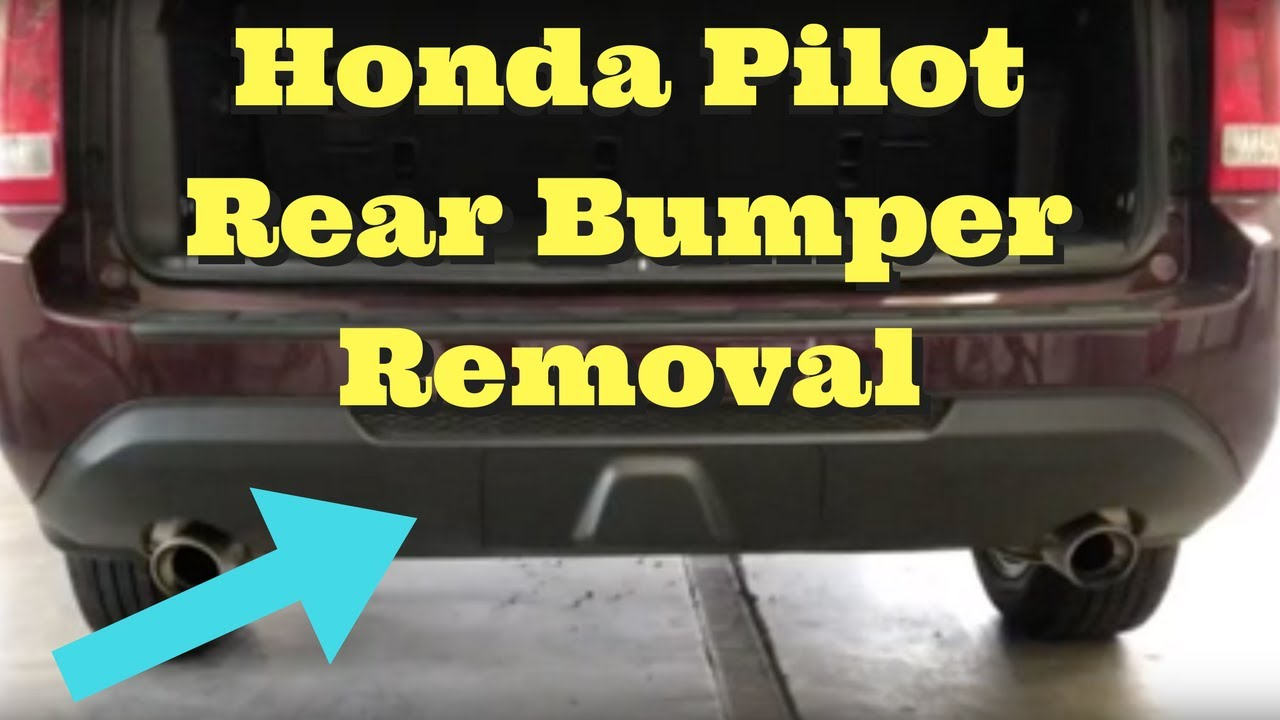 Pilot Honda 2018 >> 2009 2010 2011 2012 2013 2014 2015 Honda Pilot Rear Bumper Removal Replace Install How to Remove ...