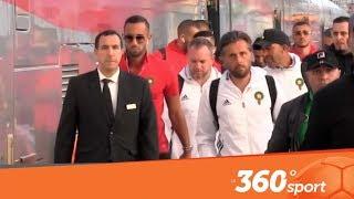 Le360.ma • اجواء وصول لاعبي واعضاء المنتخب المغربي لمحطة البراق بطنجة