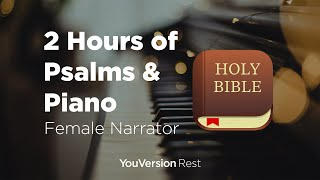 Bible Verses with Piano for Sleep and Meditation - 2 hours (Female Narrator)