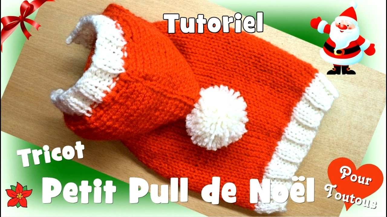 tutoriel tricot petit pull de no l pour petits chiens youtube. Black Bedroom Furniture Sets. Home Design Ideas
