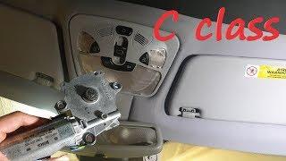 Mercedes w203 Panoramic Sunroof Motor Replacement - stuck / repair c200 c160 c180 c230