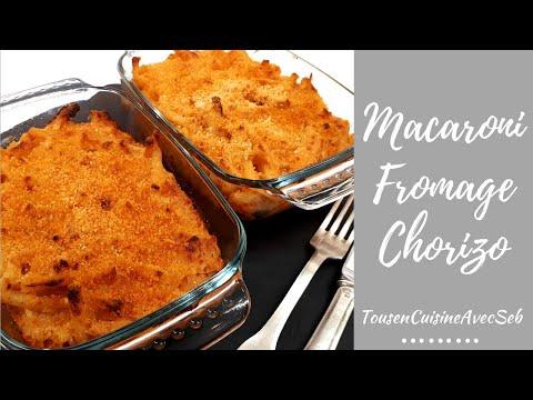 recette-de-macaroni-au-fromage-et-chorizo-(tousencuisineavecseb)