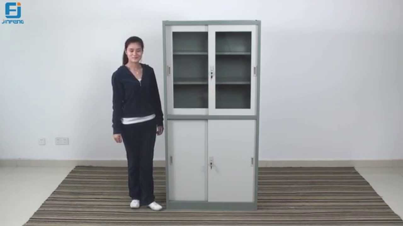 Storage Cabinet Sliding Doors Storage Cabinet With Sliding Doors Installation Video Youtube