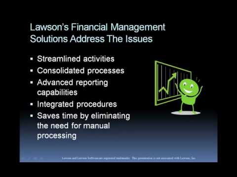 lawson software financial management solutions youtube