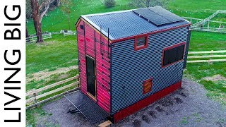 Builder's Incredible Fire Resistant, Off-Grid, Passive Tiny House On Wheels