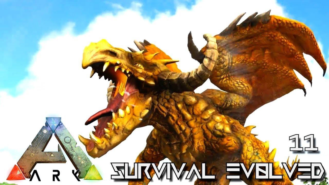 ARK: SURVIVAL EVOLVED – HUGE MONSTER DRAGON DAGON & POISON DIREWOLF