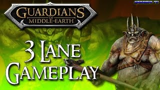 """TwC"" Guardians Of Middle Earth - 3 Lane Gameplay  (1080p HD 60fps)"
