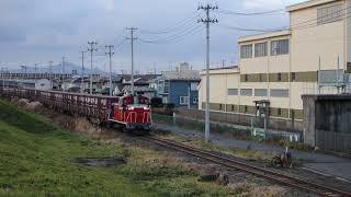八戸臨海鉄道 DD16形11レ 八戸貨物~北沼 2018年12月5日