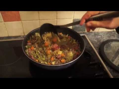 Smoked Sausage and Lentil Soup (Luxembourg Food Recipe: Lënsenzopp mat Mettwurst)