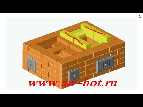 Двухколпаковая отопительная печь 4х3 кирпича