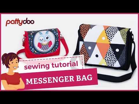 How to Sew a Messenger Bag in 2 Sizes - A Step by Step Sewing Tutorial
