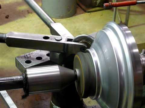 Hgn Metal Spinning Manual Lathe Youtube