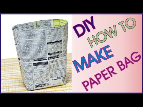 How To Make Paper Bag From Waste Newspaper | DIY Paper Bag By Golden Hacks