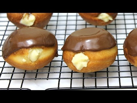Boston Cream Donuts Recipe - Stuffed Donuts - In The Kitchen With Jonny Episode 150