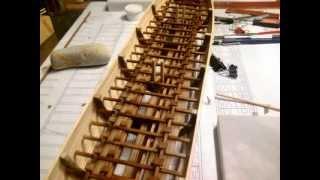 Greek trireme in 1:50 scale ( part 1 )