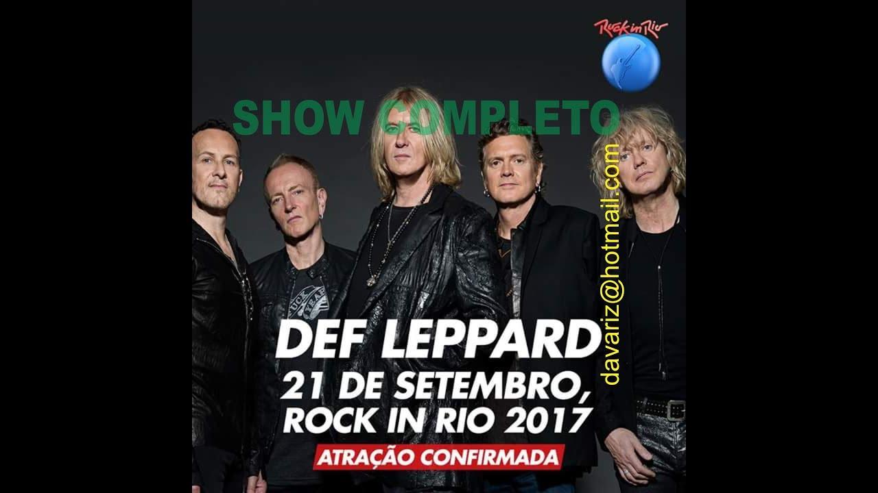 Resultado de imagen de Def Leppard - Rock in Rio 2017 LIVE (Full Show)