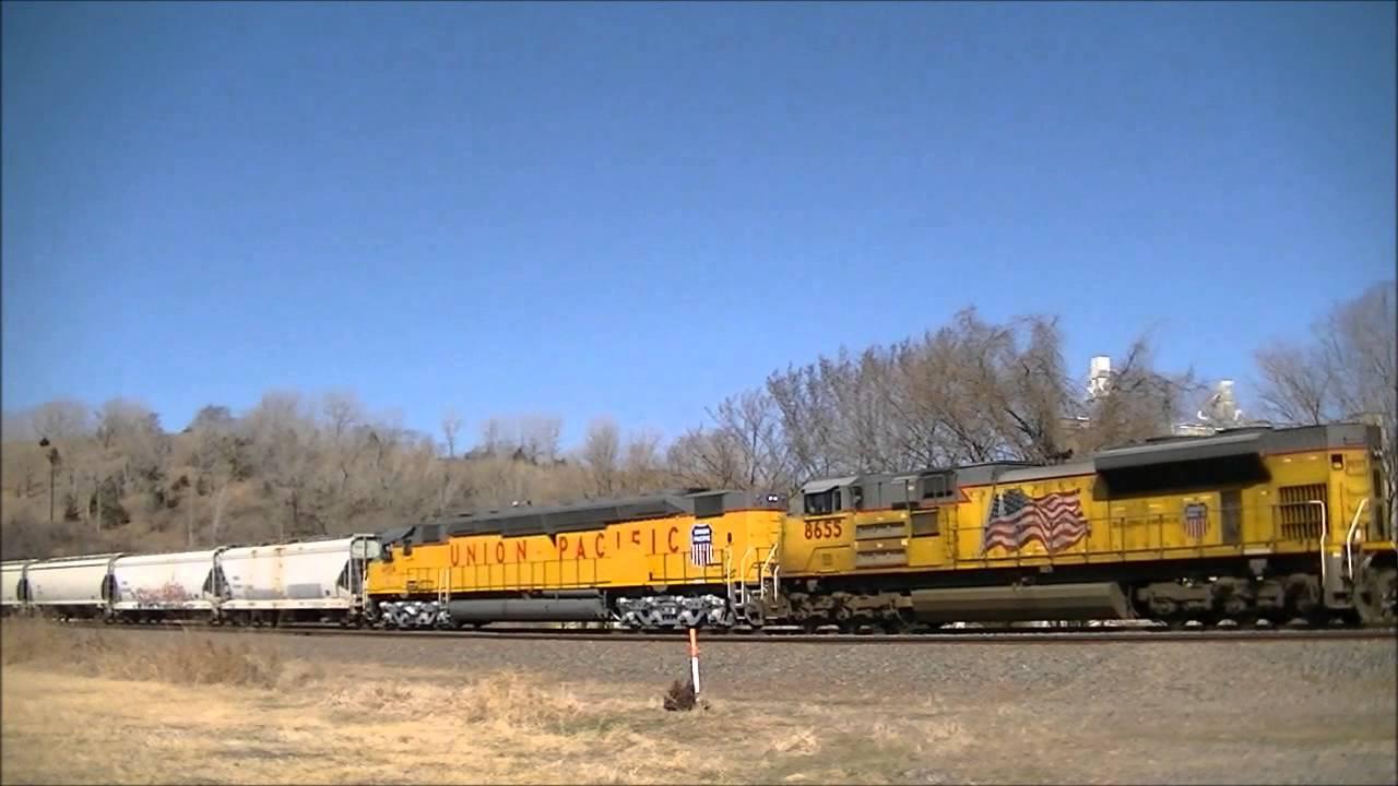 *Rare* UP 6936 DDA40X on freight service 3/23/14