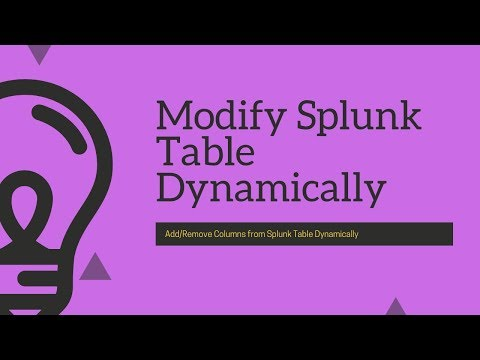 Problem Solving: How to dynamically add/remove column from splunk table