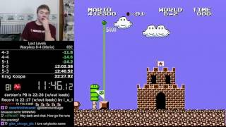 (22:05.66) Super Mario Bros.: The Lost Levels Warpless 8-4 speedrun *Former World Record*