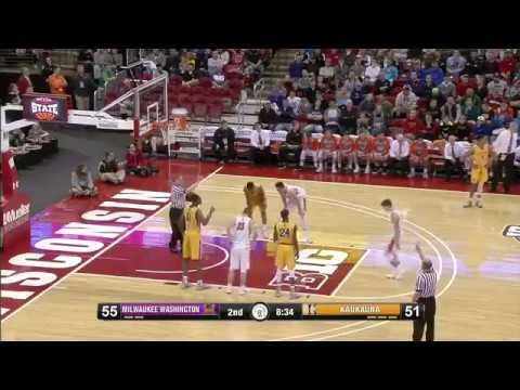 WIAA Boys Basketball: McCabe's Legendary Second Half Leads Kaukauna Past Milwaukee Washington