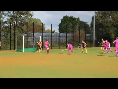Hockey match in Guernsey played on the field recently refurbished at Footes Lane on 11 10 2014
