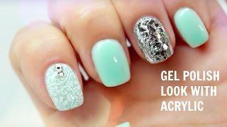 Gel polish look with ACRYLIC!