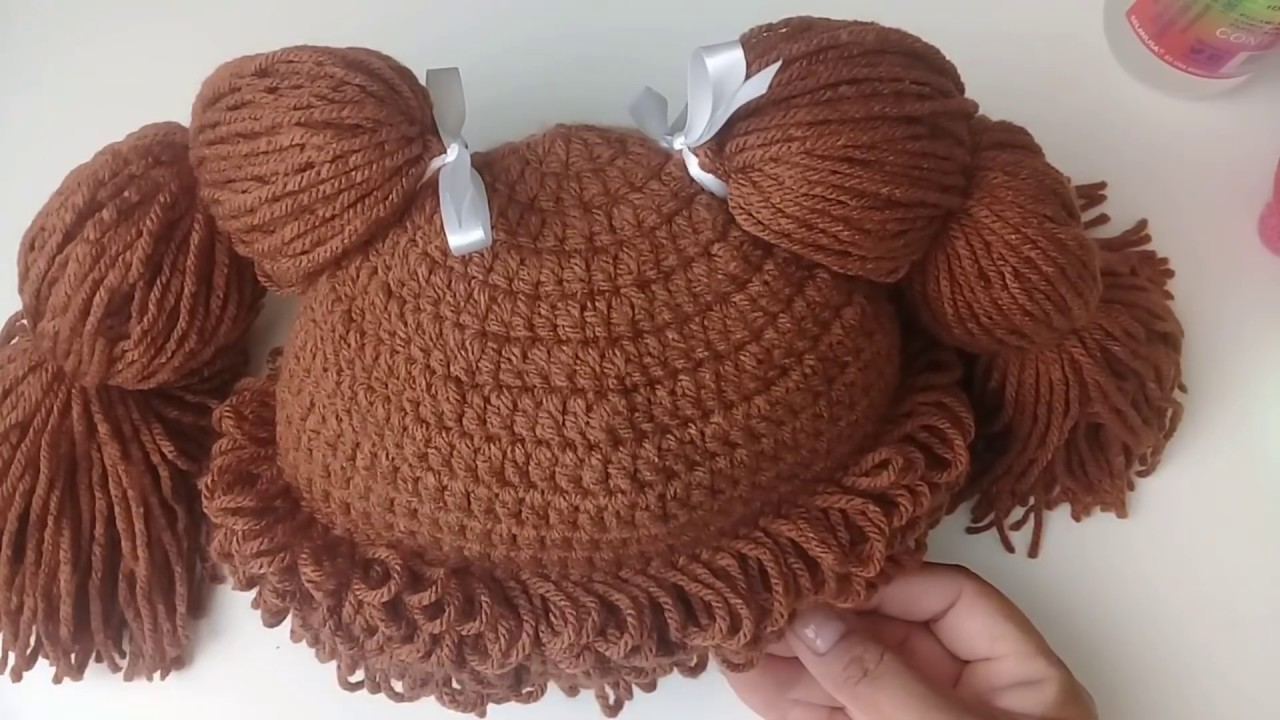 245f2fa0c gorro tejido a crochet - cabbage patch - YouTube