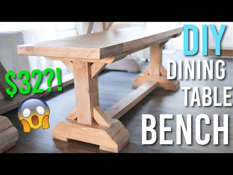 DIY Dining Table Bench - ONLY $32 IN LUMBER!