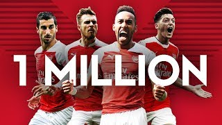 1 million subscribers | The best of Arsenal YouTube compilation