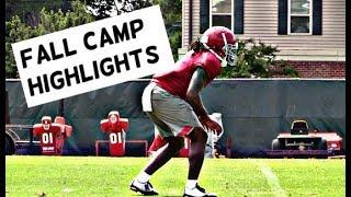 Alabama Football Fall Camp Highlights - Watch defensive backs and linebackers