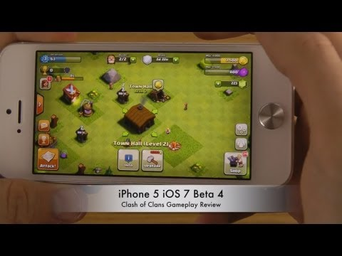 Clash of Clans iPhone 5 iOS 7 Beta 4 Gameplay Review