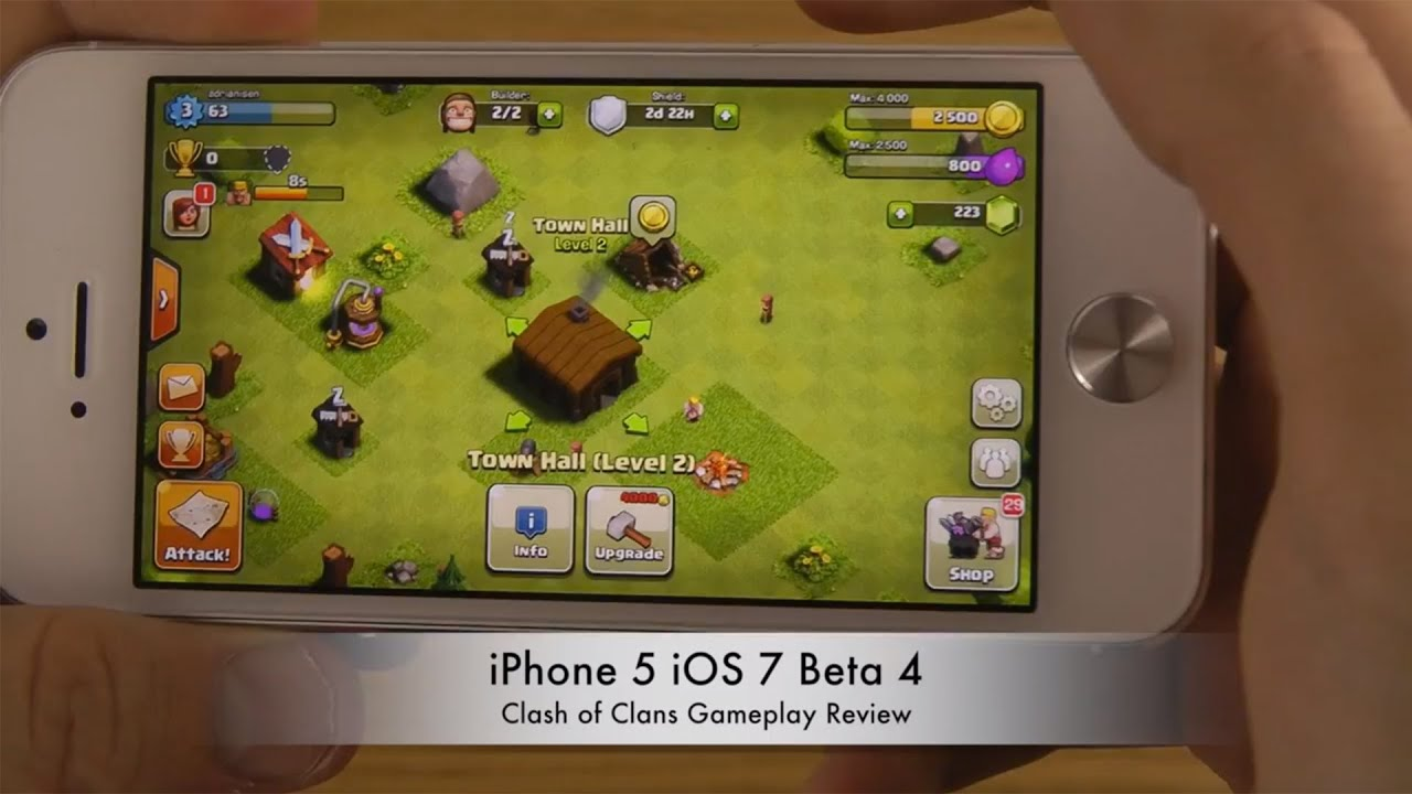 Clash Clans iPhone iOS Beta Gameplay Review