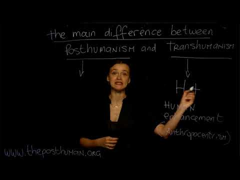 The MAIN DIFFERENCE between Posthumanism and Transhumanism - Dr. Ferrando (NYU), Concept n. 2