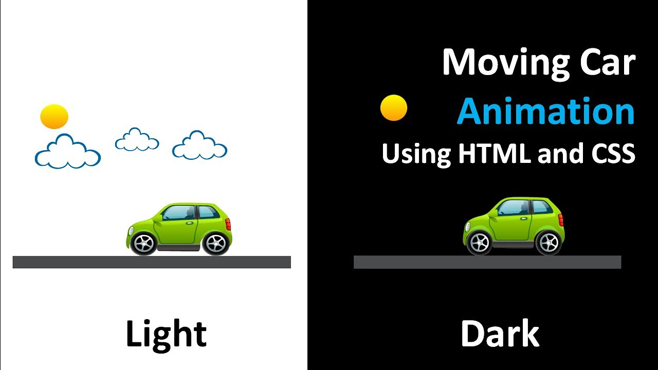 Moving Car Animation using HTML and CSS | Keyframes