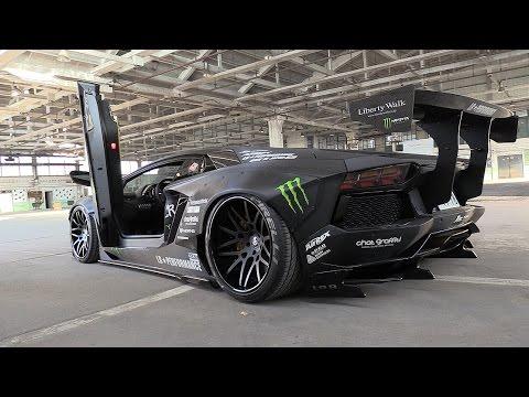 Liberty Walk Lamborghini Aventador w/ Fi Exhaust - Start, Revs & Fly By's!