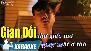 Gian Dối Karaoke Quang Lập (Tone Nam) | Nhạc Vàng Bolero Karaoke
