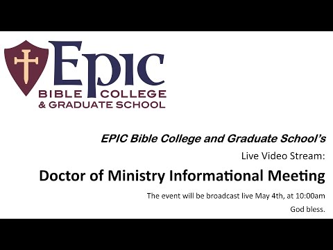 EPIC Bible College and Graduate School | M A  Programs