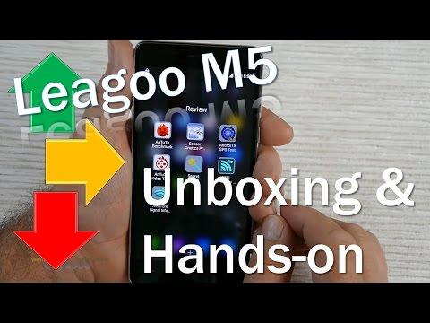 Leagoo M5 (Review) 5'' 3G Budget Smartphone - Unboxing & Hands-on (Deutsch, engl. Hints)