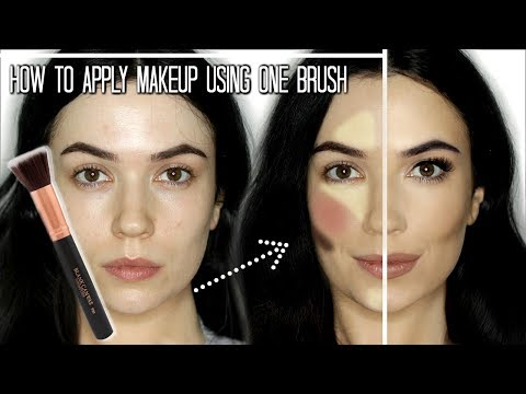 Makeup Tutorial  Full Face Of Makeup Using One Brush